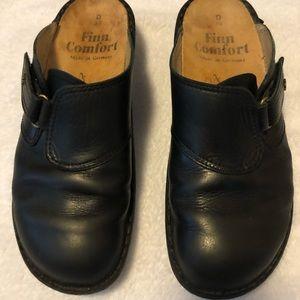 Finn Comfort Shoes Black mules size 8-8 1/2